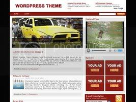 Wordpress Themes Red Rose wordpress theme